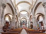 Interior of the Templo La Valenciana church in Guanajuato City, Mexico