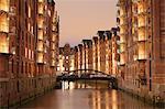Wandrahmsfleet, Speicherstadt, Hamburg, Hanseatic City, Germany, Europe