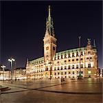 Rathaus (city hall) at Rathausmarkt place, Hamburg, Hanseatic City, Germany, Europe