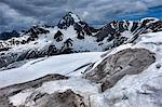 Mount Gran Zebru in early summer, Valfurva, Lombardy, Italy, Europe