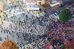 Shibuya Crossing, centre of Shibuya's fashionable shopping and entertainment district, Shibuya, Tokyo, Japan, Asia