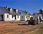 1940s NEW HOUSES UNDER CONSTRUCTION AT RIVIERA PARK BELLEVILLE NJ USA