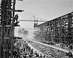 1910s 1940s LAUNCHING BATTLESHIP ARIZONA JUNE 1915 SHIP SUNK PEARL HARBOR DECEMBER 7 1941 BROOKLYN NAVY YARDS NEW YORK CITY USA