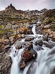 Flowing water of a creek, Alp Da Cavloc, Maloja Pass, Bregaglia Valley, Engadine, Canton of Graubunden, Switzerland, Europe