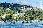 Sailing boats in Cruz Bay, St. John, Virgin Islands National Park, US Virgin Islands, West Indies, Caribbean, Central America