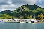 Fishing harbour of Avarua, capital of Rarotonga, Rartonga and the Cook Islands, South Pacific, Pacific