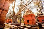 Pashupati Temple tombs, Kathmandu, Nepal, Asia
