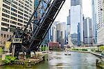Chicago River, Chicago, Illinois, United States of America, North America