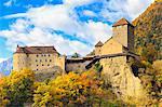 Tirolo Castle between the autumn colors, Merano, Sudtirol, Italy.