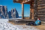 Alpe di Siusi/Seiser Alm, Dolomites, South Tyrol, Italy. Short break