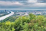 Vienna, Austria, Europe. Panoramic view of Vienna from Leopoldsberg