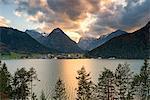 Achensee at sunset Europe, Austria, Tirol, Pertisau, Achensee