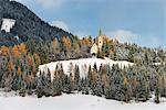 Chapel of the miners at S. Maddalena in winter Europe, Italy, Trentino Alto Adige, South Tyrol, S. Maddalena, Ridanna city, Racines municipality, Bolzano district