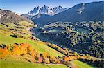 Santa Magdalena, Funes valley. Puez Odle Natural Park, South Tyrol, Italy