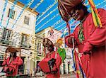 Sao Joao Festival decorations in Pelourinho, Old Town, Salvador, State of Bahia, Brazil, South America
