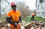 Portrait of smiling arborist