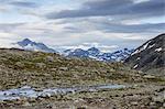 Tourist in Jotunheimen range