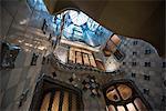 Interior view of Casa Batllo in Barcelona
