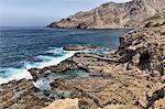 Rocky coastline and sea, Nova Sintra, Brava, Cape Verde, Africa