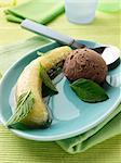 Chocolate mint banana dessert