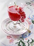 A glass of polish kisiel dessert editorial food