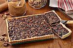 Caramel walnut tart