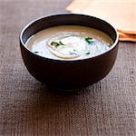 Chestnut soup with crème fraîche