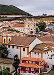 View towards the Santissimo Salvador da Se Church, UNESCO World Heritage Site, Angra do Heroismo, Terceira Island, Azores, Portugal, Atlantic, Europe