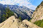 Val di Mello Reserve during summer, Valmasino, Valtellina, Sondrio province, Lombardy, Italy.