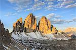 Tre Cime Di Lavaredo (Drei Zinnen), Sexten Dolomites, South Tyrol, province of Bolzano, Italy