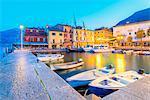 Small harbour in Malcesine Europe, Italy, Veneto, Verona province, Malcesine