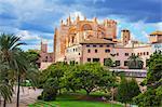 La Seu Cathedral, Palma de Mallorca, Mallorca (Majorca), Balearic Islands, Spain, Europe