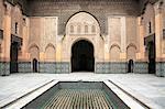 Medersa Ben Youssef, Madrasa, 16th century College, UNESCO World Heritage Site, Marrakesh (Marrakech), Morocco, North Africa, Africa