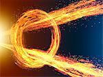 Radiate Fire Going Breakthrough Spinning Fire Ring