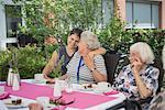 Senior women with nurse at nursing home