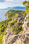 Elevated view over Cape Osejava near Makarska, Croatia, Europe