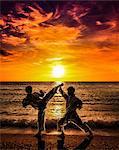 Image composite of Japanese karate athletes