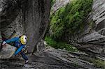 Trad climbing at The Chief, Squamish, Canada