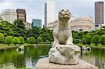 Lion statue at Paris Square, Rio de Janeiro, Brazil, South America