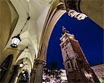 St. Mary's Church seen through archways, Krakow Square, UNESCO World Heritage Site, Krakow, Poland, Europe
