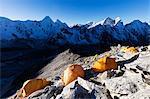 Camp 1 on Ama Dablam, Sagarmatha National Park, UNESCO World Heritage Site, Khumbu Valley, Nepal, Himalayas, Asia