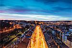 High view of house rooftops, Prague, Czech Republic, Europe