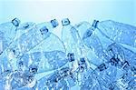 Still life of plastic bottles, source of pollution