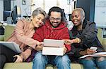 Creative business people meeting, using digital tablet