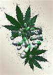 Medicinal marijuana, illustration.