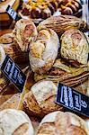 Bread stand in Borough Market, Southwark, London, England, United Kingdom, Europe