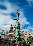 Brabo Fountain, Grote Markt, Antwerp, Belgium, Europe