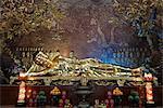 Golden reclining Buddha statue, Minh Dang Quang Buddhist temple, Ho Chi Minh City, Vietnam, Indochina, Southeast Asia, Asia