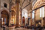 Interior of Basilica of Santa Anastasia, Verona, Veneto Province, Italy, Europe