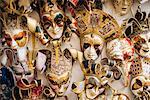 Venetian masks on display, Venice, Veneto Province, Italy, Europe